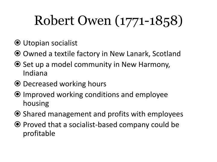 Robert Owen (1771-1858)