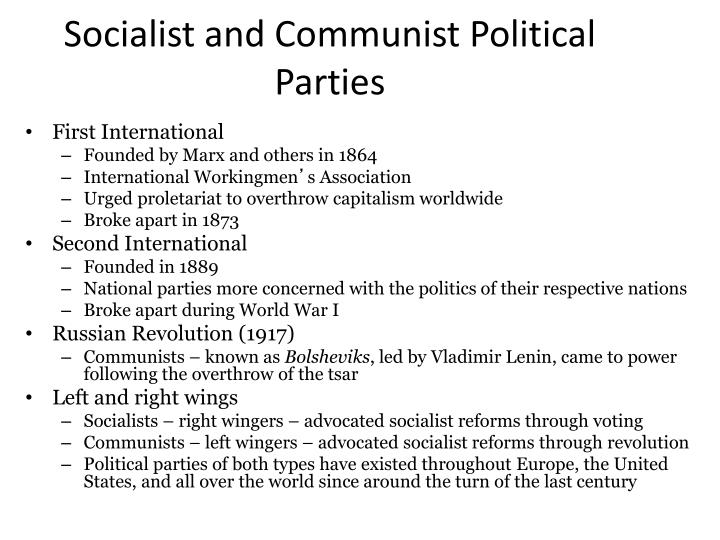 Socialist and Communist Political Parties