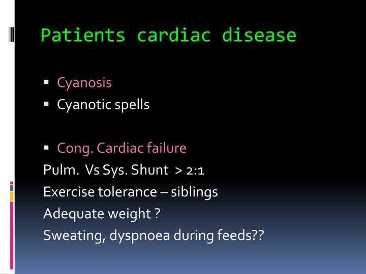 Patients cardiac disease