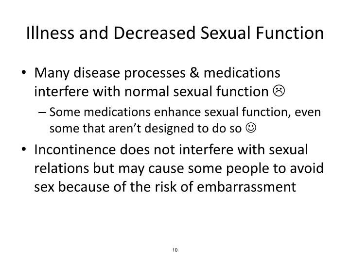 Illness and Decreased Sexual Function