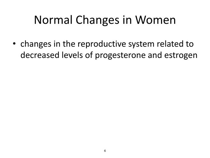 Normal Changes in Women