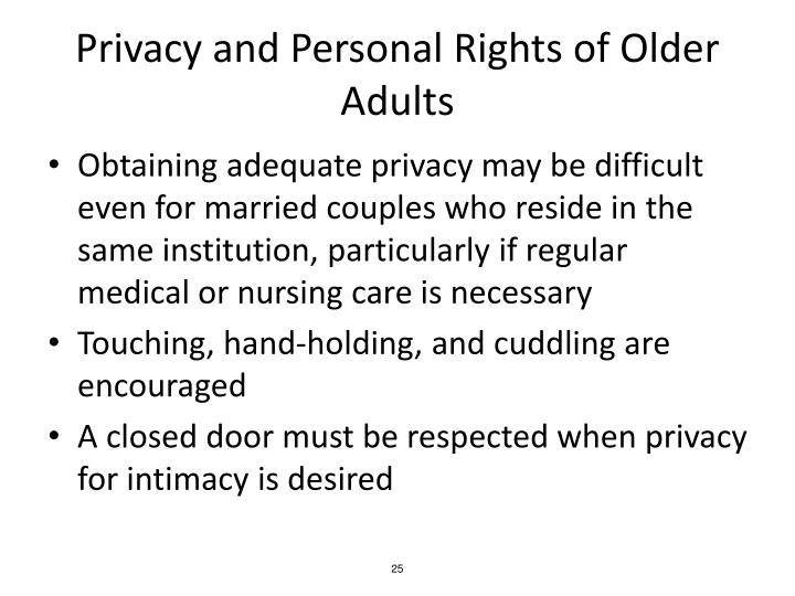 Privacy and Personal Rights of Older Adults