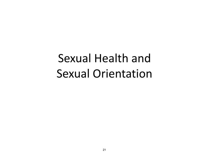 Sexual Health and