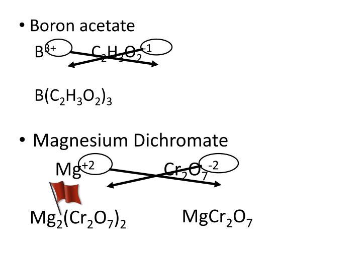Boron acetate