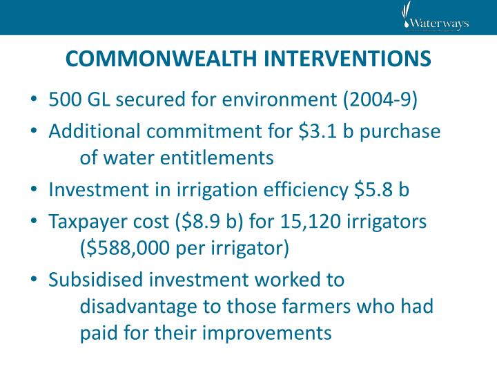 COMMONWEALTH INTERVENTIONS