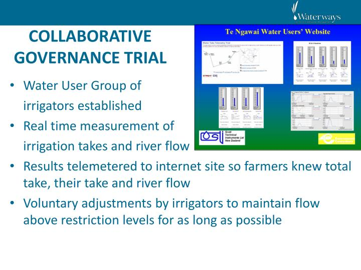 COLLABORATIVE GOVERNANCE TRIAL