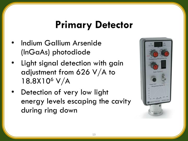 Primary Detector