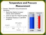 temperature and pressure measurement