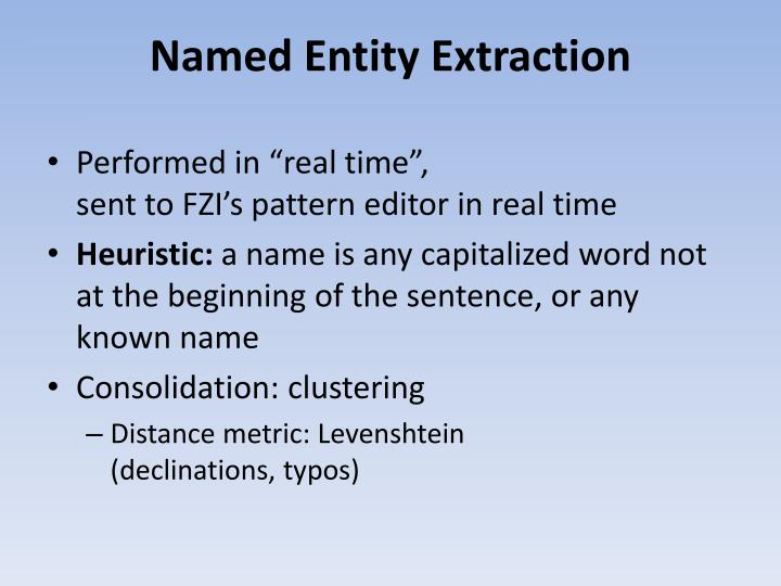 Named Entity Extraction