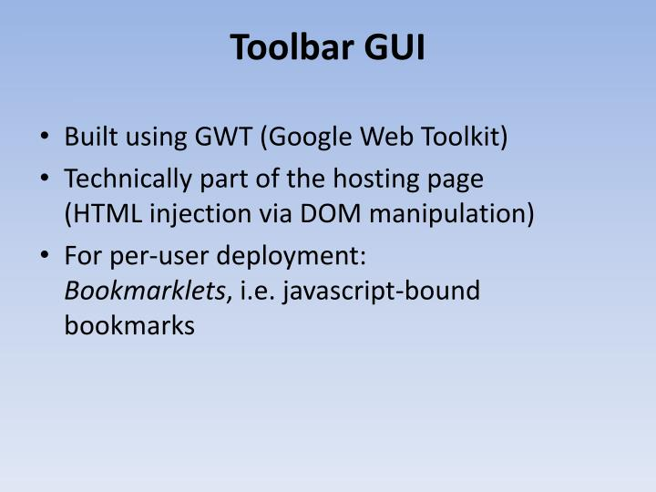 Toolbar GUI