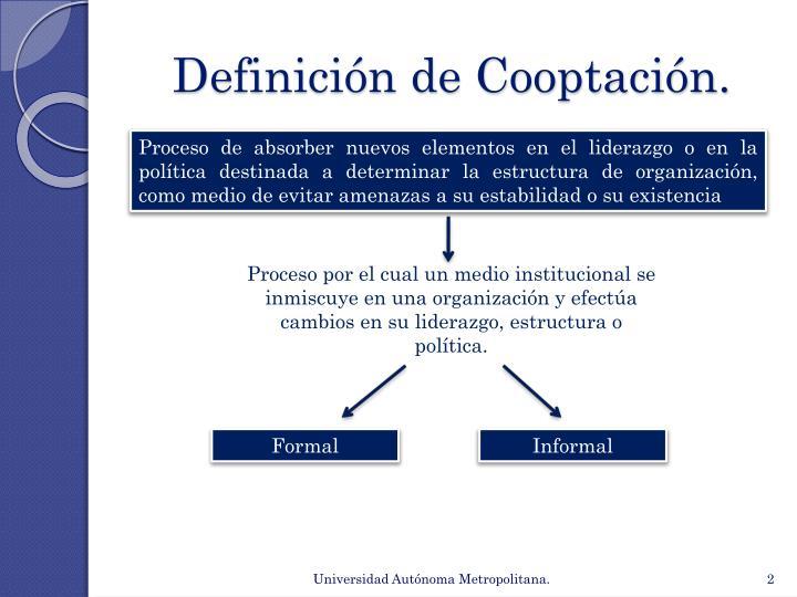 Definición de Cooptación.