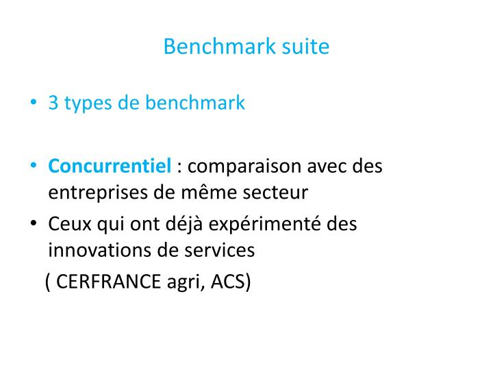 Benchmark suite