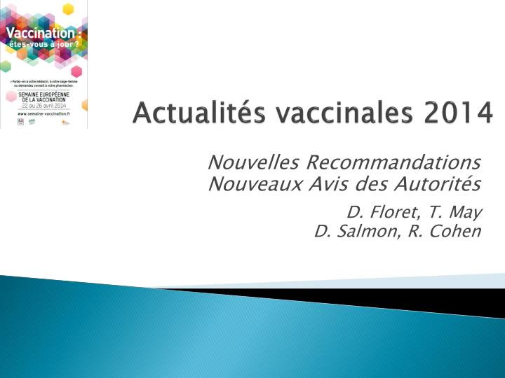 Actualit s vaccinales 2014