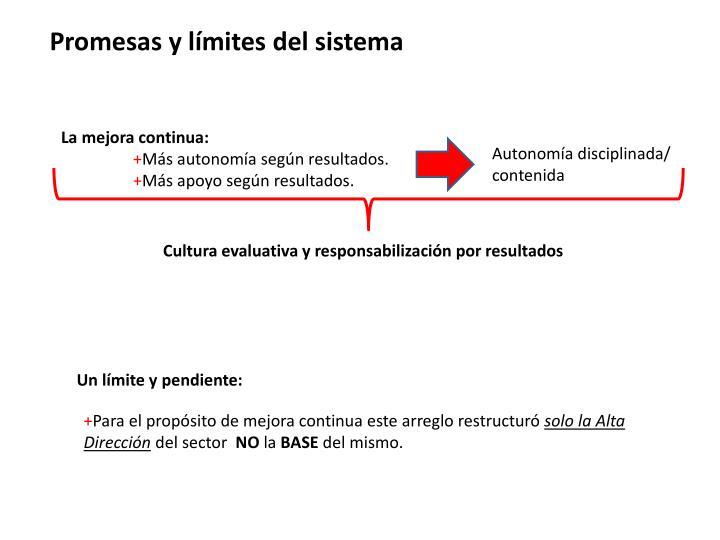Promesas y límites del sistema
