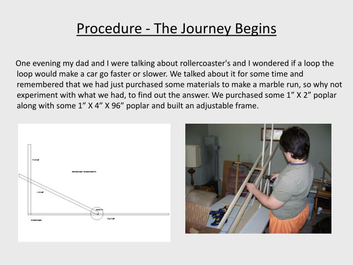 Procedure - The Journey Begins