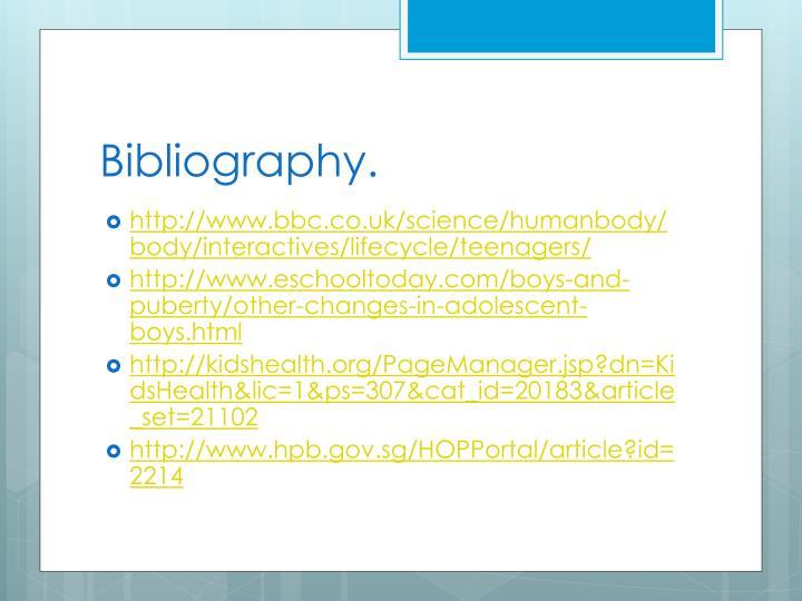 Bibliography.