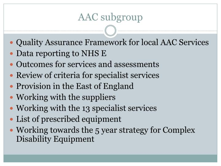 AAC subgroup