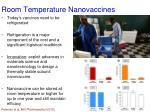 room temperature nanovaccines