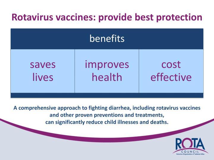 Rotavirus vaccines: provide best protection