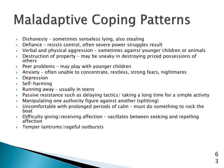 Maladaptive Coping Patterns