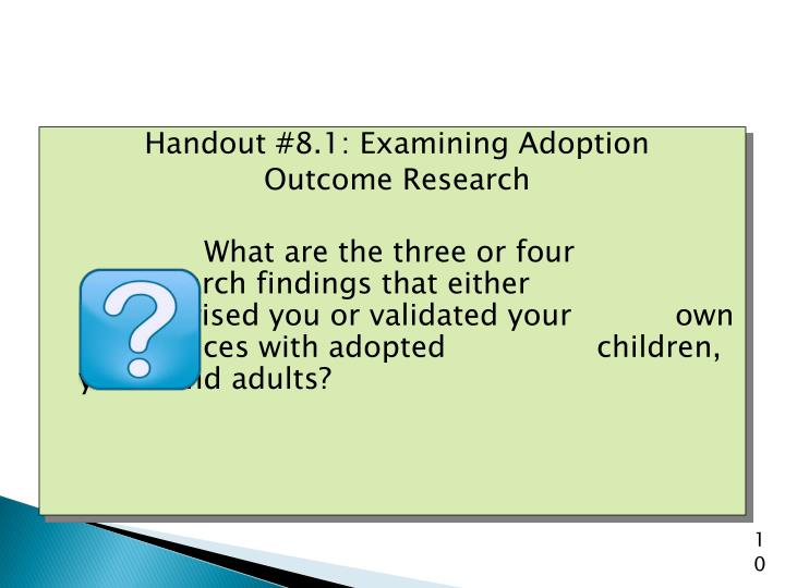 Handout #8.1: Examining Adoption