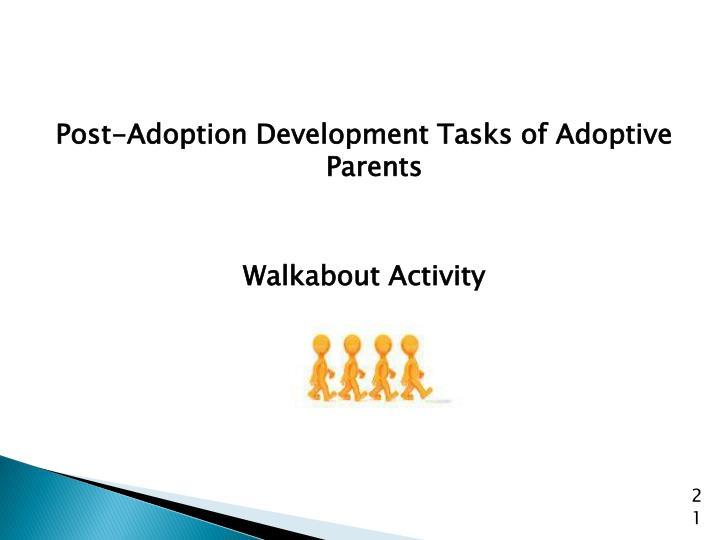 Post-Adoption Development Tasks of Adoptive Parents