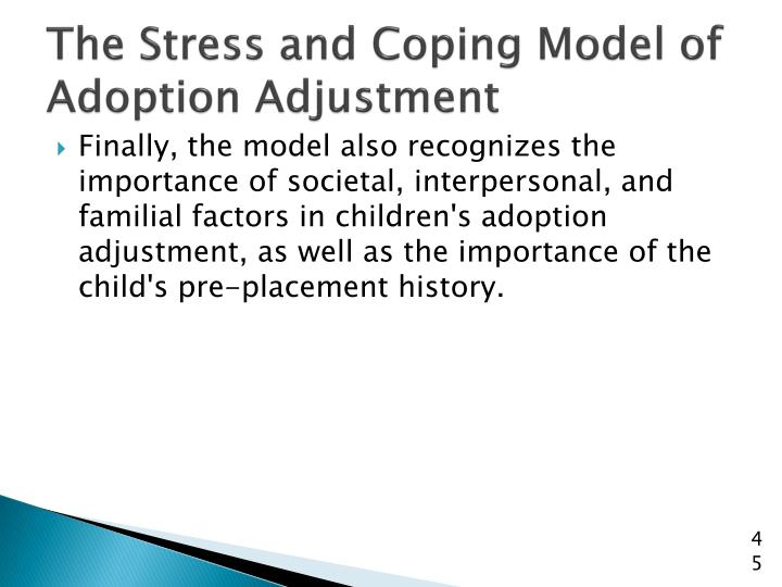 The Stress and Coping Model of Adoption Adjustment