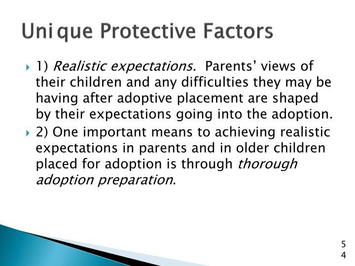 Unique Protective Factors