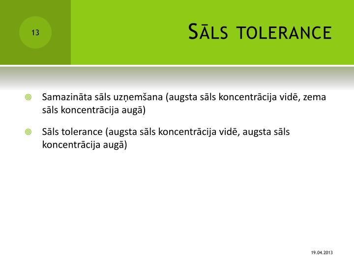 Sāls tolerance