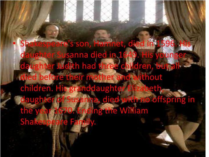Shakespeare's son,