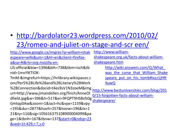 http://bardolator23.wordpress.com/2010/02/23/romeo-and-juliet-on-stage-and-scr