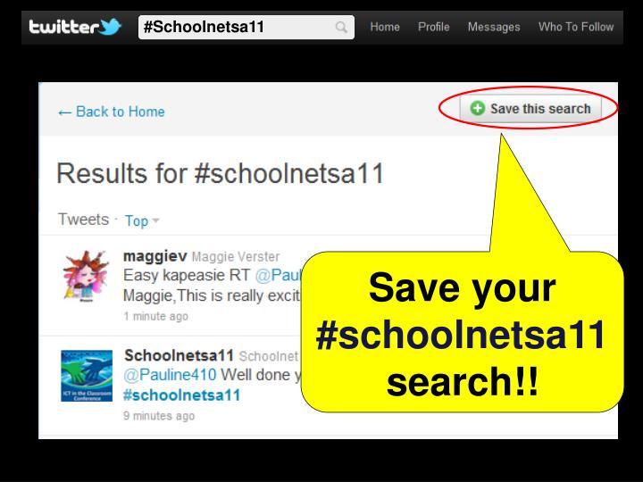 #Schoolnetsa11