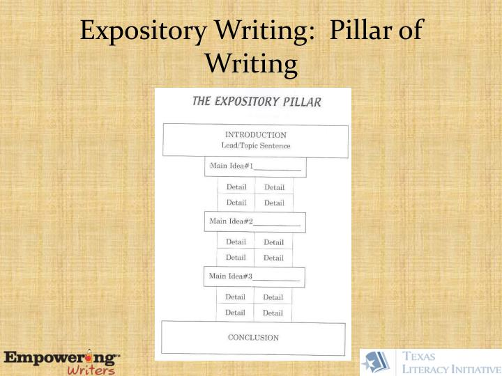 Expository Writing:  Pillar of Writing