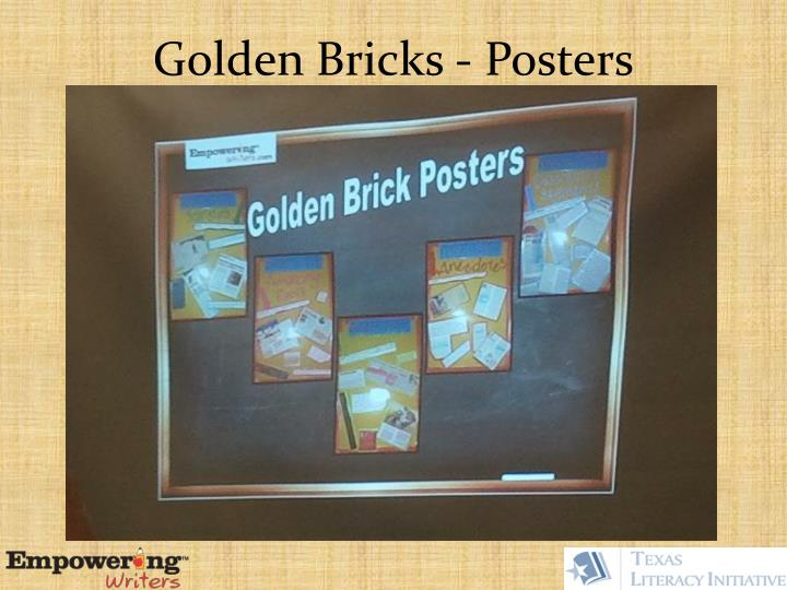 Golden Bricks - Posters