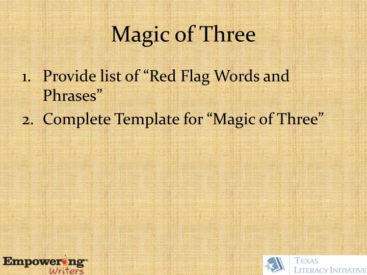 Magic of Three