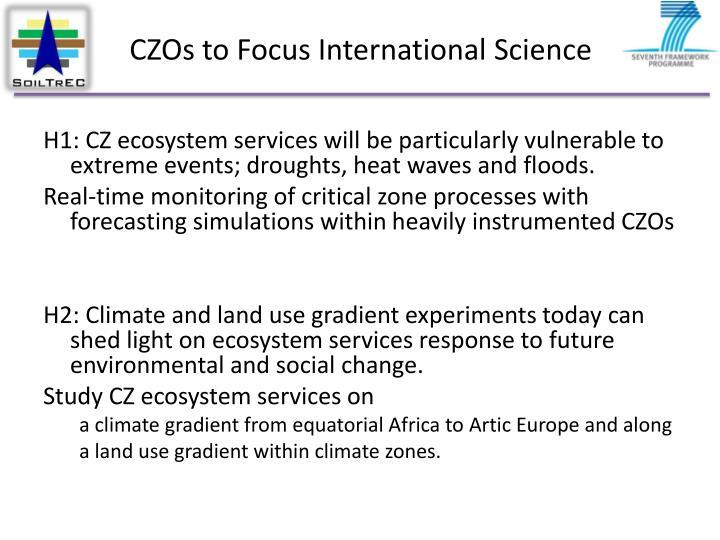 CZOs to Focus International Science