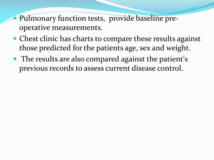 Pulmonary function tests,