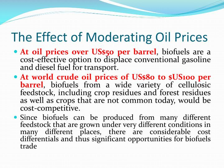 The Effect of Moderating Oil Prices