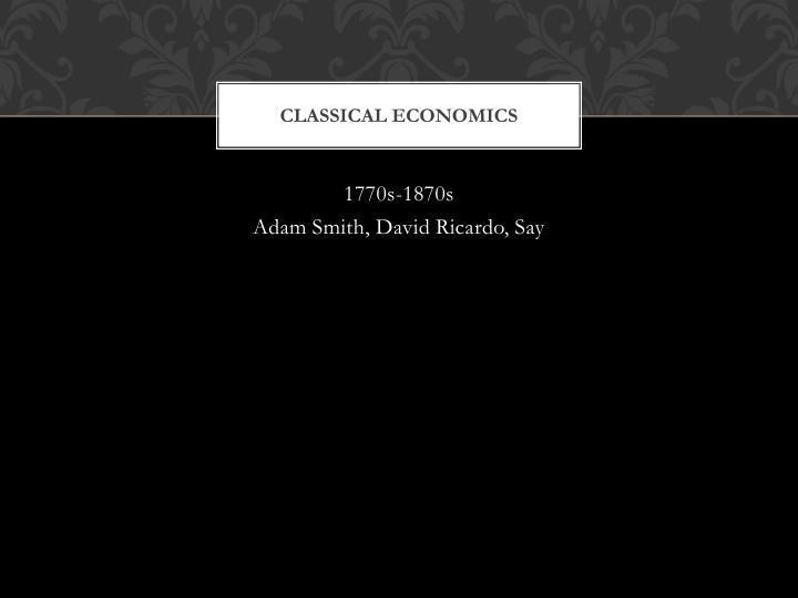 Classical economics