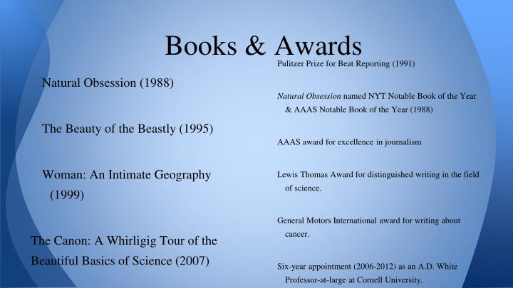Books & Awards