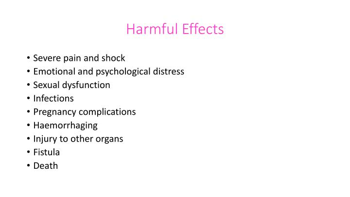 Harmful Effects