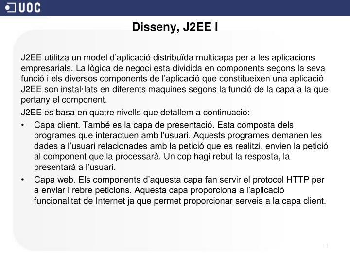 Disseny, J2EE I