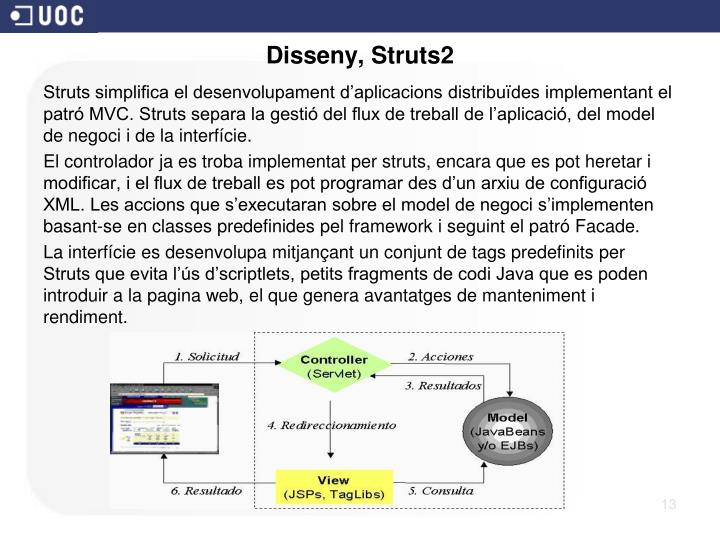 Disseny, Struts2