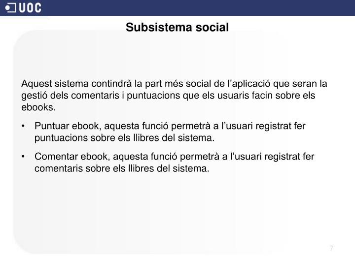 Subsistema social