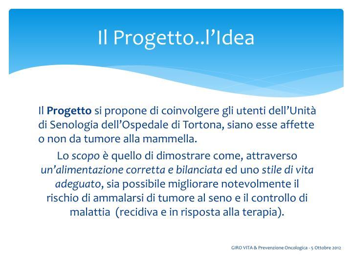 Il Progetto..l'Idea