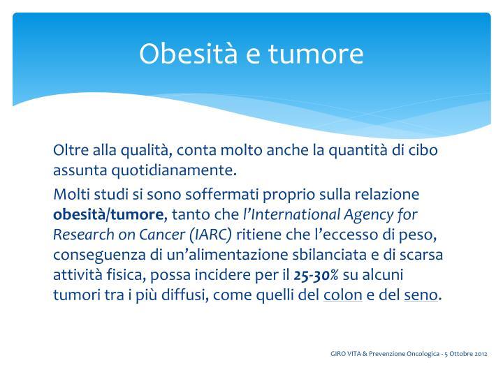 Obesità e tumore