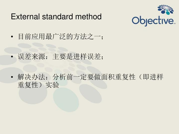 External standard method