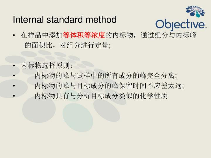 Internal standard method