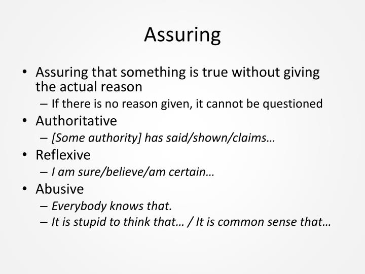 Assuring