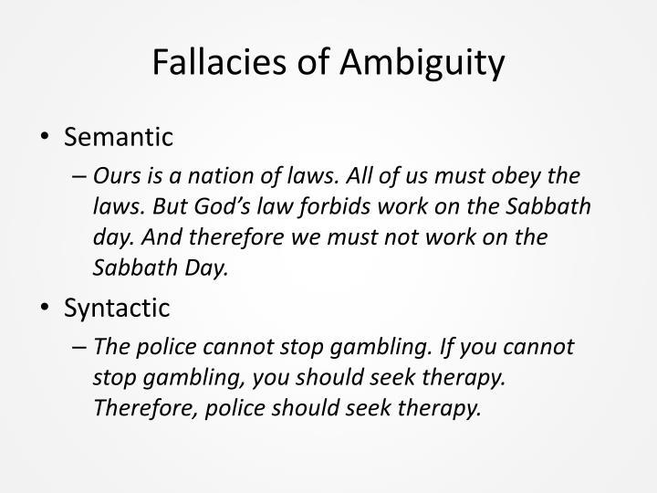 Fallacies of Ambiguity